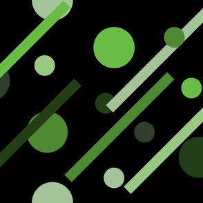 Linear Green - Dots & Dashes