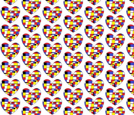 I Heart Mondrian fabric by hobbitrosie on Spoonflower - custom fabric