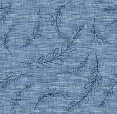 Laurel Linen- dark blue