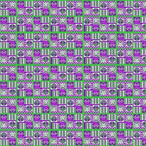 Pikinini masks.purple green