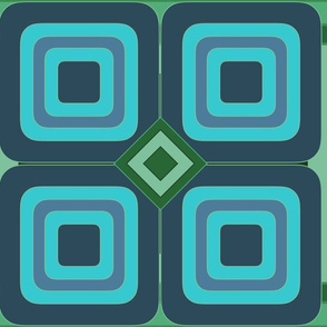 Panton Blue and Green Squares