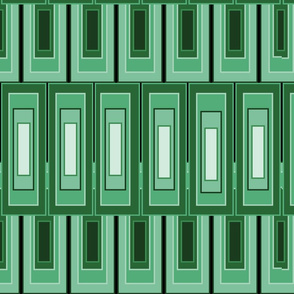 Panton Art Deco Green Rectangles