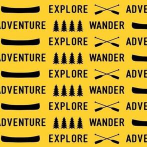 explore wander adventure (bold yellow)