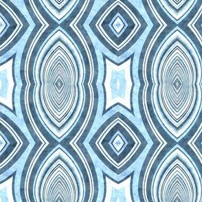 art deco light blue