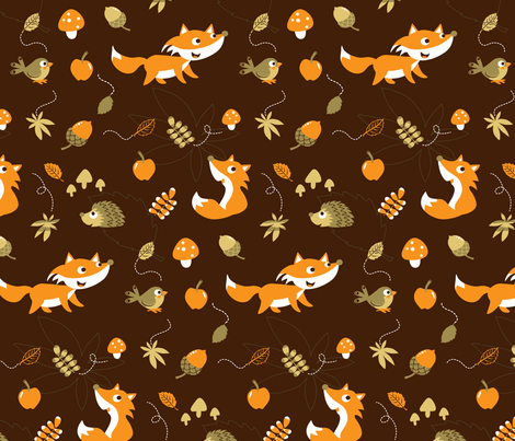 Autumn is coming - Fox Love fabric by katelein on Spoonflower - custom fabric