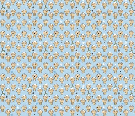 Christmas Kawaii Gingerbread Men // Children's Winter Design fabric by how-store on Spoonflower - custom fabric