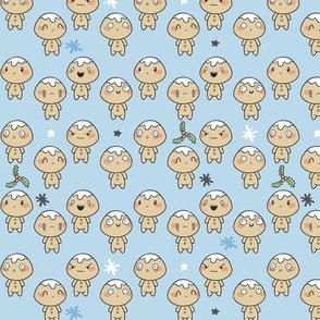 Christmas Kawaii Gingerbread Men // Children's Winter Design