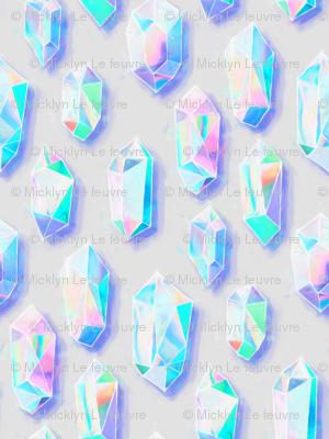 Iridescent Rainbow Crystals - large
