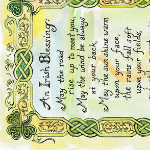 An Irish Blessing panel