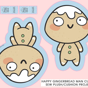 Gingerbread Man Cut & Sew Plush/Pillow