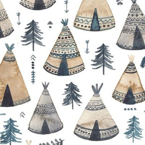 Woodland Native Tepees