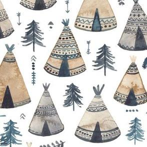 Woodland Native Tepees
