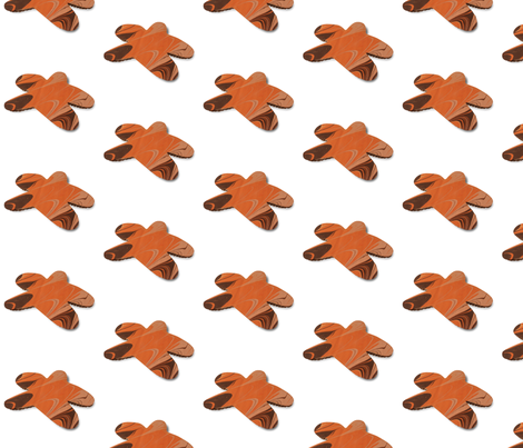 gingerbread fabric by oftheforest on Spoonflower - custom fabric