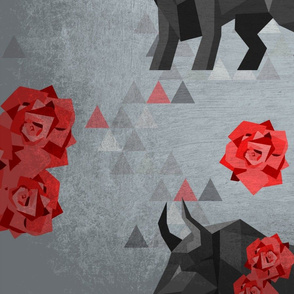 Fragmented Bulls and Roses