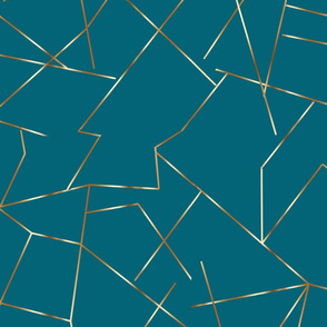 gold angles on oceanside blue gold and blue green