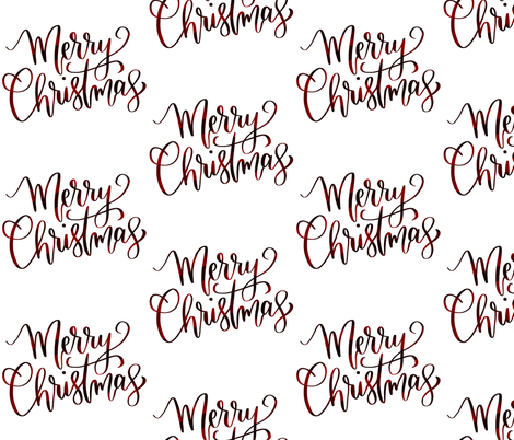 Merry Calligraphy Fabric Breemooredesign Spoonflower
