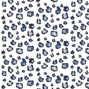 Blue leopard print watercolor blues animal print
