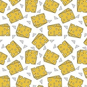 cheese fabric // novelty food fabric print for craft projects - smaller