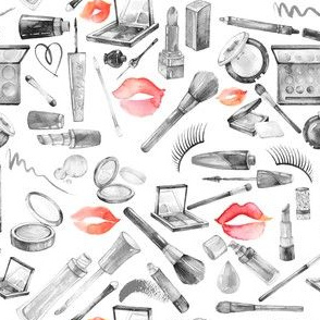 """Makeup 4 Grayscale Red Lips 6"""""""