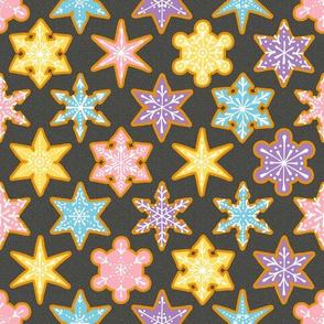 Iced Snowflake Cookies
