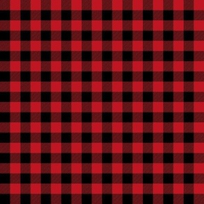 buffalo plaid - red and black 1/2""