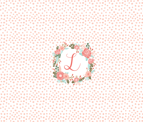 monogram L - centered on FQ fabric by charlottewinter on Spoonflower - custom fabric