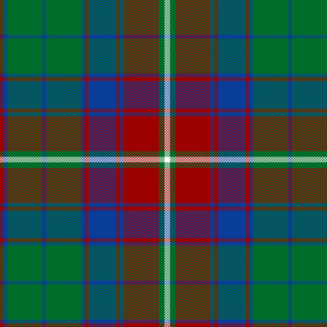 "Roxburgh district tartan, 6"" red fabric by weavingmajor on Spoonflower - custom fabric"