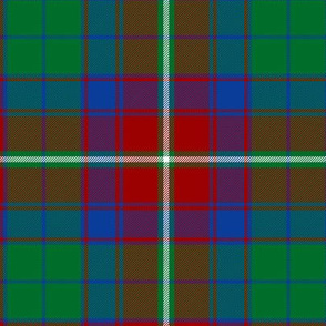 "Roxburgh district tartan, 6"" red"