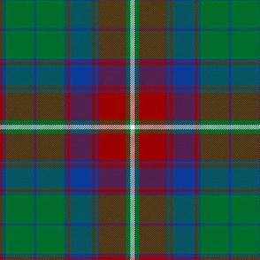 "Roxburgh district tartan, 6"" red"