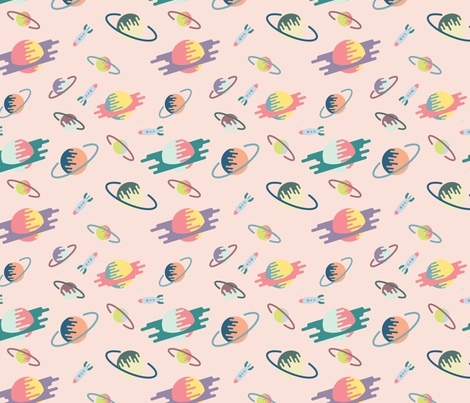 Throwback_Far Out fabric by enariyoshi on Spoonflower - custom fabric