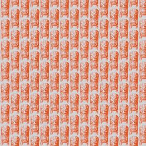 tiki scribble orange - mini