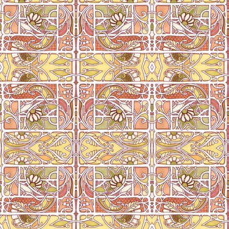 On a Windy Summer Afternoon fabric by edsel2084 on Spoonflower - custom fabric