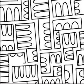 Arched Blocks Pattern LV Large