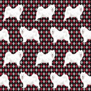 samoyed argyle fabric