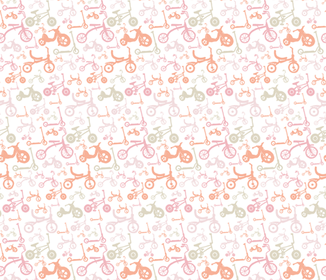 Bikes Trikes & Scooters fabric by onelittleprintshop on Spoonflower - custom fabric