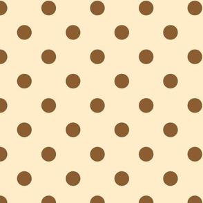Nutmeg Spice polka dots on vanilla cream