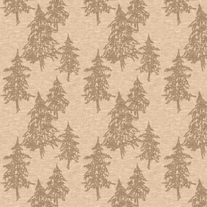 Evergreen Trees - fawn