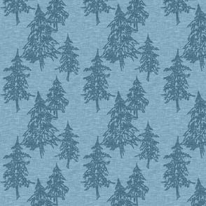 Evergreen TRees - blue