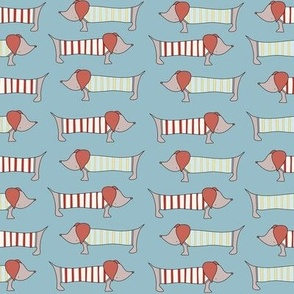 Dachshunds / blue weiner dog / doxie / cute dogs / pet dogs / toddler kids baby design