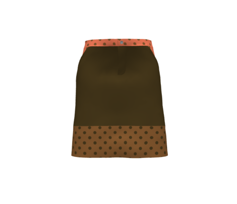 Chocolate polka dots on gingerbread brown