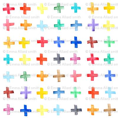 Rainbow Swiss Cross - larger scale