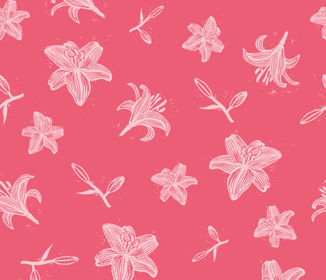 lily_blockprint fabric by kasumidesign on Spoonflower - custom fabric