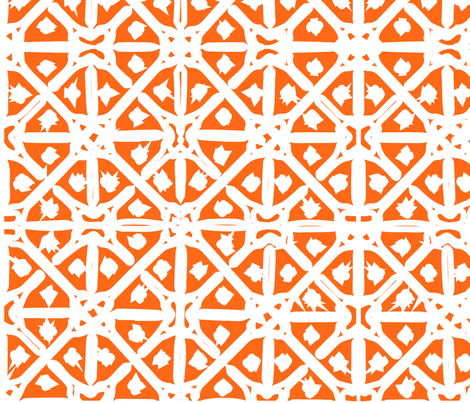 Orange Mediterranean Tiles Outdoor Pattern Middle East Fabric Classy Middle Eastern Patterns