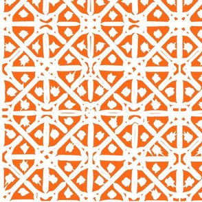 Orange mediterranean tiles outdoor pattern middle east