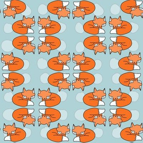 Foxes / cute orange fox / blue toddler kids baby design / trendy hipster woodland animals design