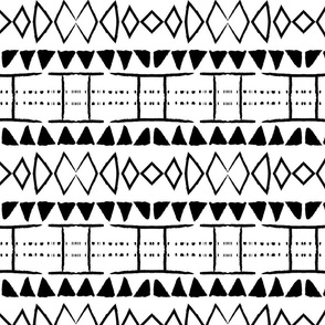 african mudcloth black and white tribal mud cloth
