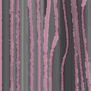 Nouveau Stripes Watercolour Pink and Grey