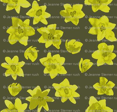 yellow flowers dark