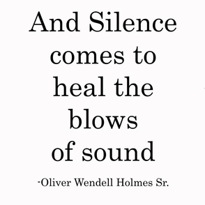 And Silence Comes