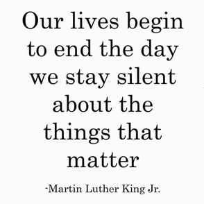 Martin Luther King- Silent